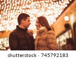 couple at the street | Shutterstock . vector #745792183