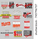 set of a black friday label ... | Shutterstock .eps vector #745796737