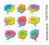 quote box on trendy gradient... | Shutterstock .eps vector #745797703