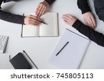 working process. | Shutterstock . vector #745805113