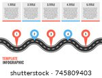 navigation winding road vector... | Shutterstock .eps vector #745809403
