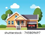 colonial neo classical... | Shutterstock .eps vector #745809697