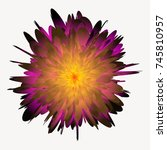 beautiful abstract flower... | Shutterstock .eps vector #745810957