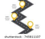 infographic template. zig zag... | Shutterstock .eps vector #745811107