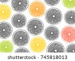 beautiful graphic pattern... | Shutterstock .eps vector #745818013