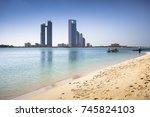 abu dhabi skyline  united arab...   Shutterstock . vector #745824103