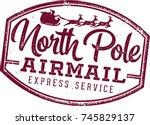 North Pole Santa Airmail Stamp