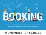 online booking concept... | Shutterstock . vector #745838113