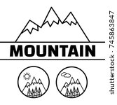 mountains logo. mountain rock... | Shutterstock . vector #745863847