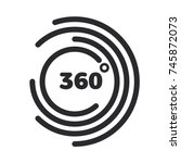 360 degrees view related vector ...   Shutterstock .eps vector #745872073