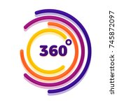 360 degrees view related vector ... | Shutterstock .eps vector #745872097
