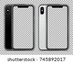 realistic white and black slim... | Shutterstock .eps vector #745892017