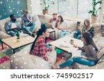portrait of happy successful...   Shutterstock . vector #745902517
