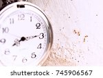 Small photo of work against time concept.Clock with ants working