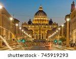 rome  italy   june 22  2017 ... | Shutterstock . vector #745919293