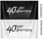 40th anniversary celebration... | Shutterstock .eps vector #745920073