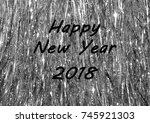 happy new year's 2018 greeting...   Shutterstock . vector #745921303