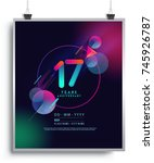17 years anniversary logo with... | Shutterstock .eps vector #745926787