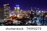 Cityscape Of Jakarta At Night
