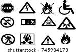 sign vector | Shutterstock .eps vector #745934173