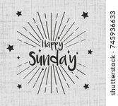 happy sunday greeting card with ...   Shutterstock .eps vector #745936633