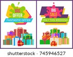 big fantastic sale offer only... | Shutterstock .eps vector #745946527