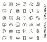 message icon set. collection of ... | Shutterstock .eps vector #745950757