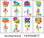 70  off best sale and price ... | Shutterstock .eps vector #745950877