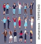 men and women  dressed in...   Shutterstock .eps vector #745951543
