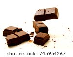 chocolate background   a... | Shutterstock . vector #745954267
