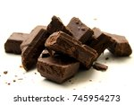 chocolate background   a... | Shutterstock . vector #745954273