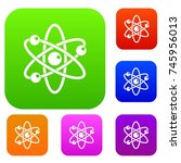 atom with electrons set icon
