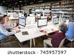 diverse education shoot | Shutterstock . vector #745957597