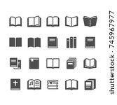 book glyph icons | Shutterstock .eps vector #745967977