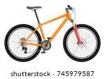 orange bike isolated on white... | Shutterstock . vector #745979587
