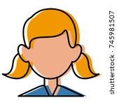 woman faceless avatar | Shutterstock .eps vector #745981507