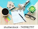 business  finance  saving money ...   Shutterstock . vector #745982797