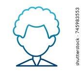 man faceless avatar | Shutterstock .eps vector #745983553