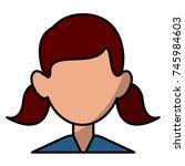 woman faceless avatar | Shutterstock .eps vector #745984603