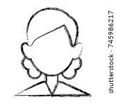 woman faceless avatar | Shutterstock .eps vector #745986217