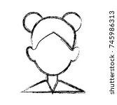 woman faceless avatar | Shutterstock .eps vector #745986313