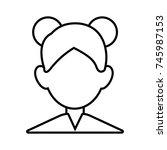 woman faceless avatar | Shutterstock .eps vector #745987153
