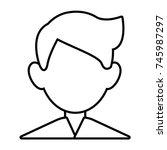 man faceless avatar | Shutterstock .eps vector #745987297