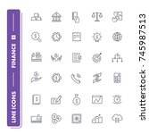 line icons set. finance pack 2.... | Shutterstock .eps vector #745987513