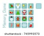 vector cards for memory game... | Shutterstock .eps vector #745993573