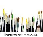 set of round artistic... | Shutterstock . vector #746022487