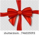 illustration of red ribbon.... | Shutterstock . vector #746035093