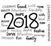 world international holiday... | Shutterstock .eps vector #746036917