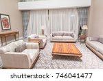 modern interior of dining room | Shutterstock . vector #746041477
