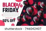 black friday sale poster by... | Shutterstock .eps vector #746042407